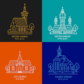 Outlined churches collection