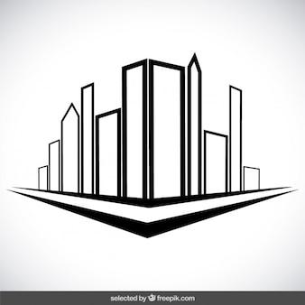 Edifici della città delineate