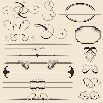 Outlined decorative elements