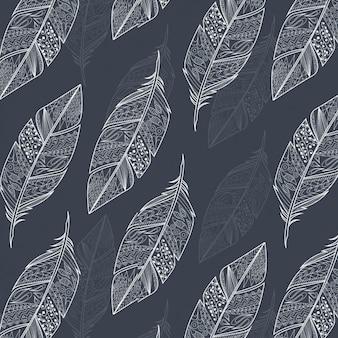 Piume delineato disegno di sfondo
