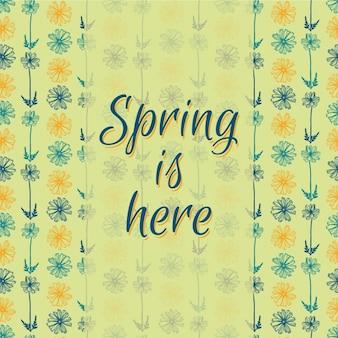 Outlined floral spring background