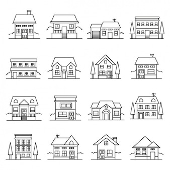 Outlined house icons
