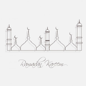 Outlined mosque background
