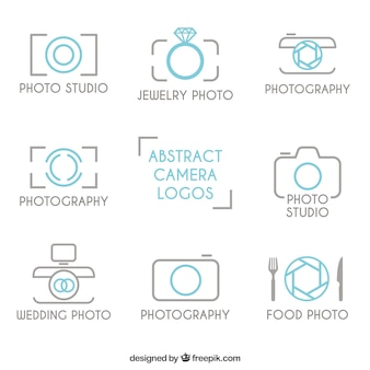 Outlined photography logos