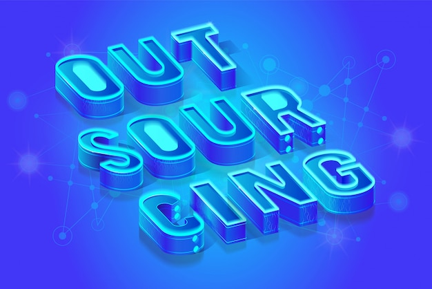 Outsourcing isometric projection background