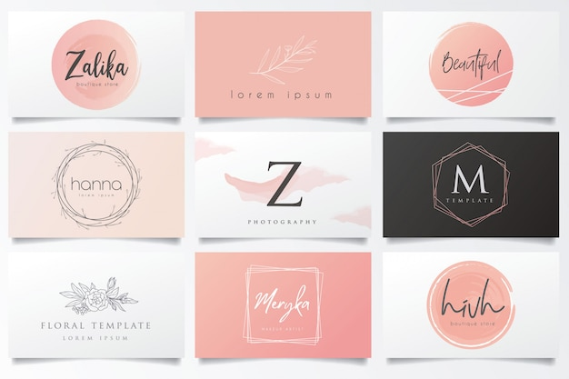 Outstanding logos and business cards