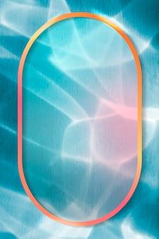 Cornice ovale su sfondo astratto