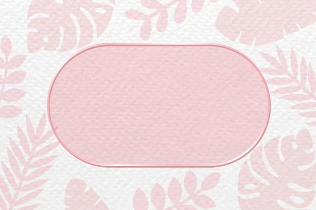 Oval frame on monstera patterned