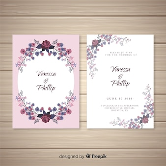 Oval frame wedding invitation template
