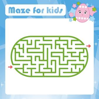 Oval labyrinth worksheet