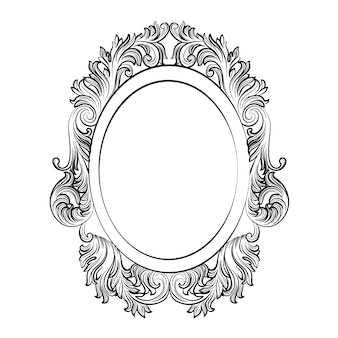 Oval ornamental frame