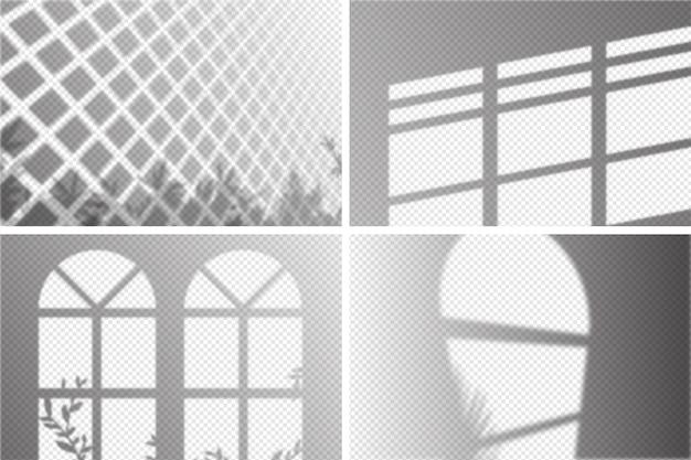 Прозрачные тени ovelay эффект