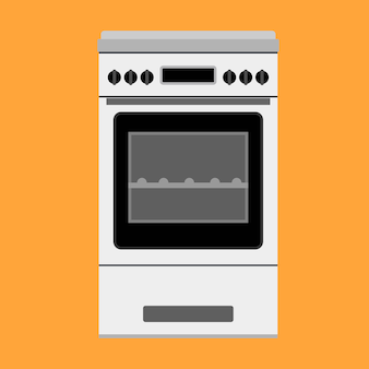 Oven illustration appliance cooking kitchen. stove equipment domestic food