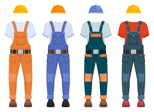 Overall construction uniform illustration isolated on white