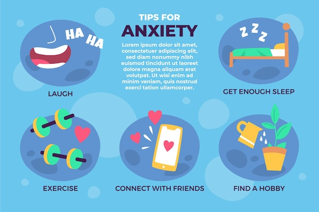 Overcome the anxiety tips infographic