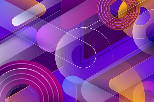 Overlapping geometric forms background