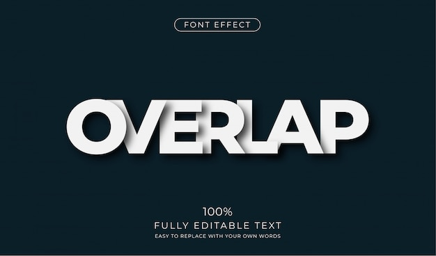 Overlapping text effect. editable font style