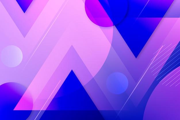 紫色の線と青いドットの背景の重複