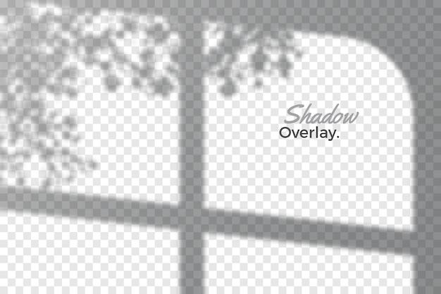 Эффект наложения прозрачного дизайна теней