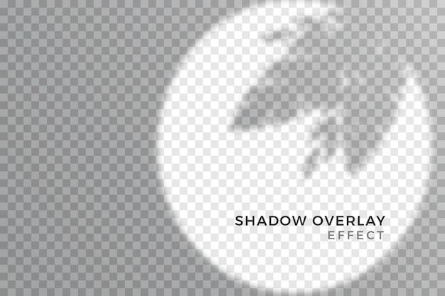Эффект наложения прозрачного стиля теней