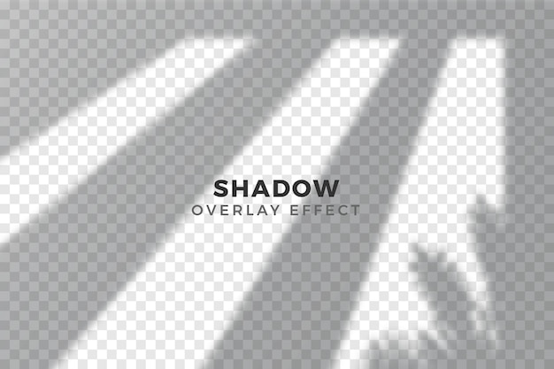 Overlay effect of transparent shadows concept