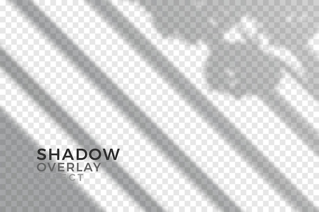 Overlay effect of transparent shadows design