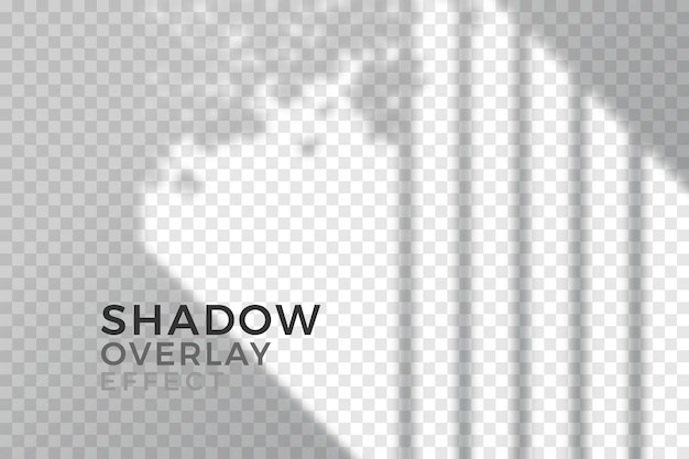 Overlay effect of transparent shadows theme