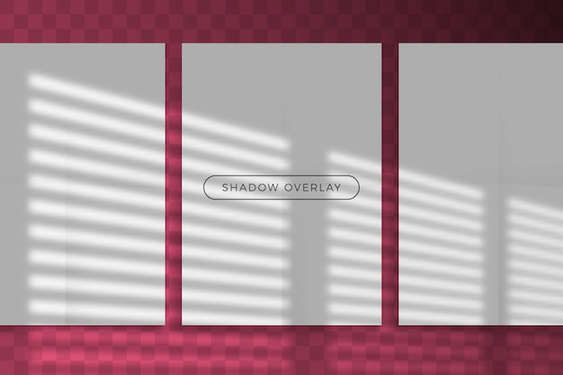 Overlay shadow of natural lighting style with transparent shadow light effect overlay.