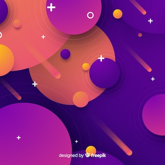 Overloped circles background