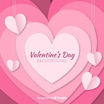 Overloped heart valentine background