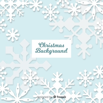 Overloped snowflakes christmas background