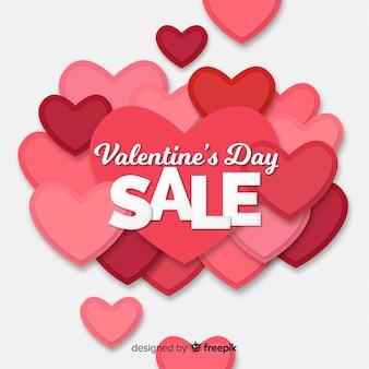 Overloped valentine sale background