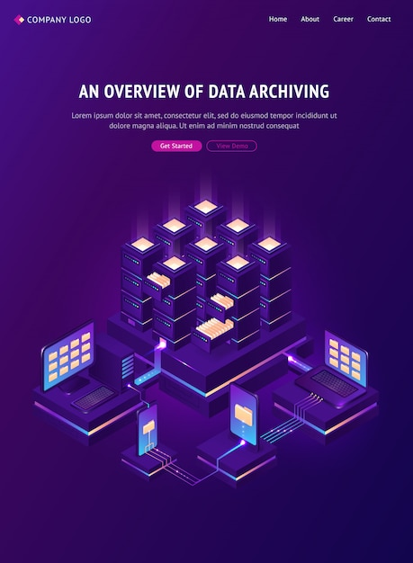 Overview of data archiving banner