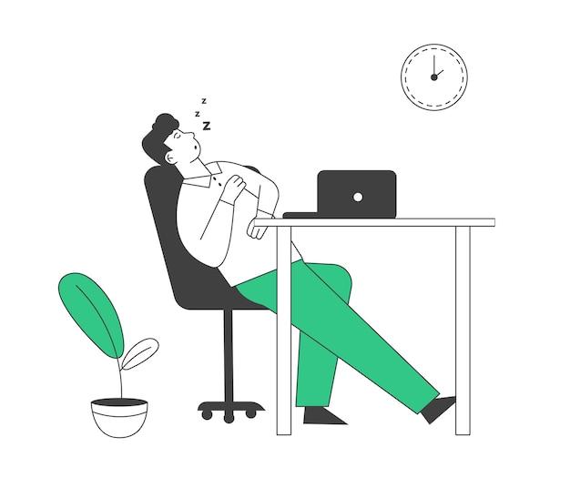 Overwork burnout symptom concept
