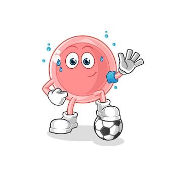 Ovum playing soccer illustration