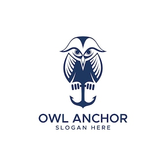 Owl anchor logo