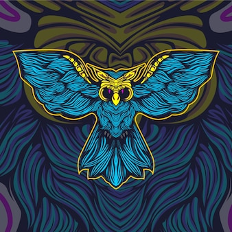 Owl artwork illustration