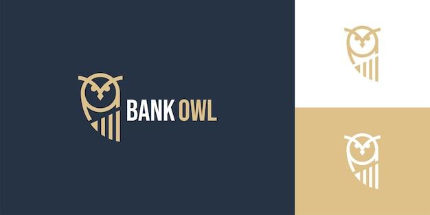 Сова птица финансовый бар логотип дизайн шаблона