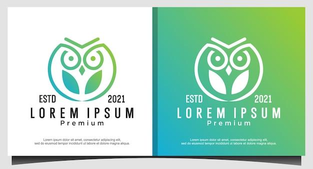 Сова птица логотип дизайн шаблона