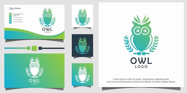 올빼미 새 로고 디자인 서식 파일