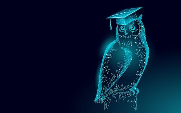 Owl bird symbol of wise education.