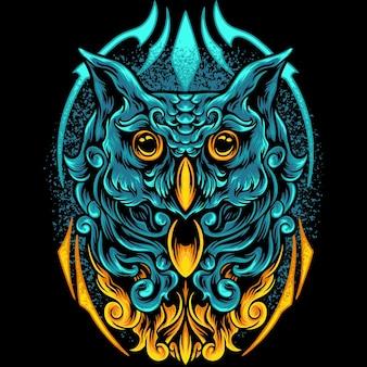 Owl bird with full ornament