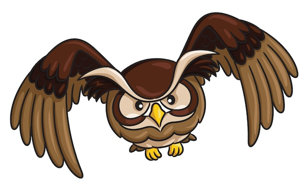 Owl cartoon style