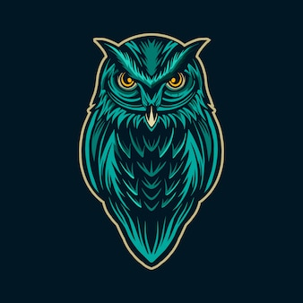 Owl  character artwork isolated