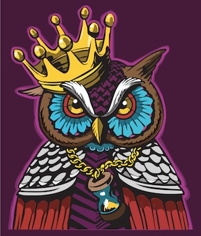 Owl character graffiti design