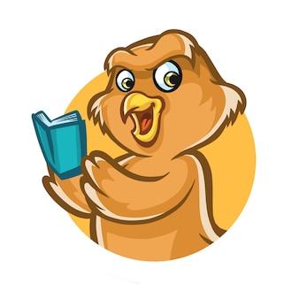 Owl clever mascot design
