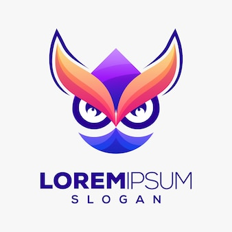 Owl colorful logo design