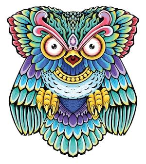Owl colorful print design