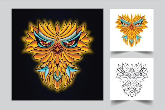 Owl cute artwork illustration