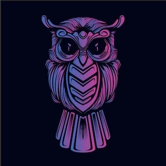 Owl decorative face artwork